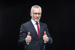 Handsome mature businessman royalty free stock photo
