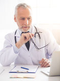 Handsome mature doctor Royalty Free Stock Photo