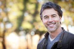 Handsome Mature Happy Man Smiling At The Camera. Stock Images