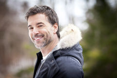 Handsome Mature Happy Man Smiling At The Camera. Royalty Free Stock Image