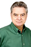 Handsome Mature Man in Green Shirt Stock Images