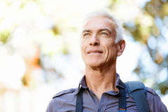 Handsome mature man outdoors Royalty Free Stock Photography