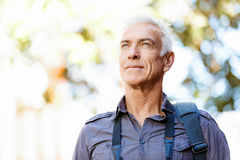 Handsome mature man outdoors Royalty Free Stock Images
