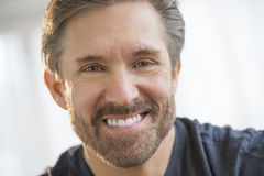 Handsome Mature Man Smiling Royalty Free Stock Photos