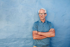 Handsome mature man wearing glasses Royalty Free Stock Photos