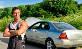 Handsome mechanic Royalty Free Stock Image
