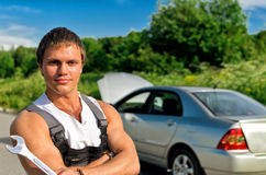 Handsome mechanic Royalty Free Stock Photo