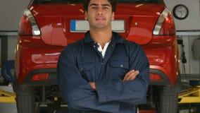 Handsome mechanic stock video