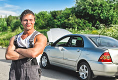Handsome mechanic Royalty Free Stock Photography