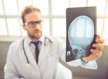 Handsome medical doctor Stock Images