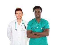 Handsome medical team Stock Photos