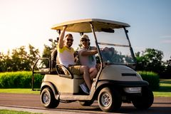 Men playing golf Royalty Free Stock Photography