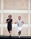 Handsome men running for exercise. royalty free stock photography