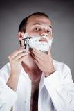 Handsome men for shaving Royalty Free Stock Photo