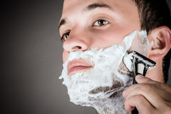 handsome men for shaving Royalty Free Stock Images