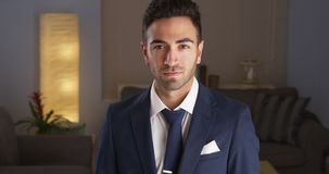 Handsome Mexican man in suit Stock Photos