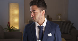 Handsome Mexican man in suit Royalty Free Stock Photography