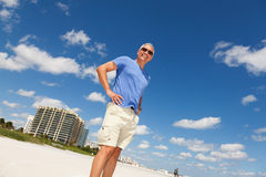 Handsome middle age man at the beach Royalty Free Stock Image