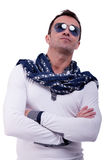 Handsome middle-age man, with sun glasses Royalty Free Stock Photo