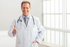 Handsome middle aged doctor Royalty Free Stock Photo