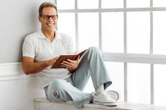 Handsome middle aged man Stock Images