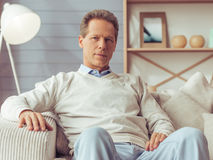 Handsome middle aged man Royalty Free Stock Images