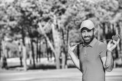 Handsome middle eastern golfer Royalty Free Stock Photo