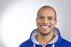 Handsome mixed race male smiling to camera Stock Photography