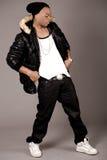 Handsome modern man dancing Stock Photography