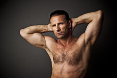 Handsome muscle man Royalty Free Stock Photos