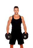 Handsome muscled man training Stock Photography
