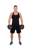 Handsome muscled man training Stock Photo