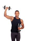 Handsome muscled man training Stock Images