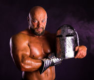 Handsome muscular ancient warrior Royalty Free Stock Photos