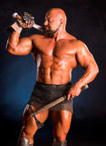 Handsome muscular ancient warrior Royalty Free Stock Photography