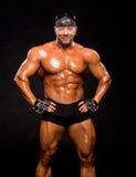 Handsome muscular bodybuilder Stock Photo