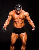 Handsome muscular bodybuilder Stock Photos