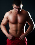 Handsome muscular guy Stock Photo