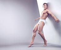 Handsome muscular guy Stock Images