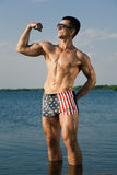 Handsome muscular guy Royalty Free Stock Images