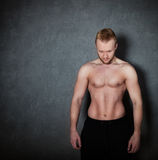 Handsome muscular male model Stock Photography