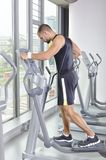 Handsome Muscular Male Model With Perfect Body Doing Cardio Exer Royalty Free Stock Photos
