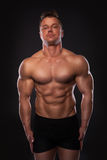 Handsome muscular man Stock Images