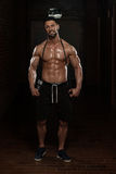 Handsome Muscular Man With Jumping Rope Stock Photos