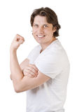 Handsome muscular man smiling Stock Photography