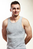 Handsome muscular sporty fit man portrait. Royalty Free Stock Images