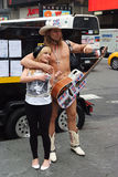 Handsome, naked cowboy man posing in new york, usa Stock Photos