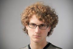 Handsome nerd Stock Image