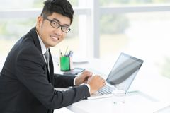 Handsome office worker Stock Photography