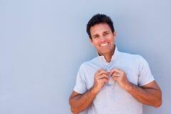 Handsome older man smiling Royalty Free Stock Image